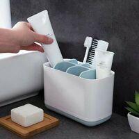 Triomphe Organisateur brosse à dents électrique porte-brosse à dents, support pour brosse à dents porte-dentifrice, support pour brosse à dents étui de maquillage, salle de bains, 1 pièce(Gris)