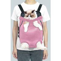 Triomphe Sac pour animaux de compagnie, sac à dos pour chats et chiens, sac à dos respirant pour animaux de compagnie, sac de poitrine pour animaux de compagnie, sac à dos en filet portable pour animaux de compagnie, rose S
