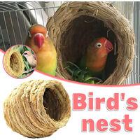 Triomphe Nid d'herbe fait à la main pour perroquets Nid d'oiseau Boîte d'élevage Peau de tigre Pivoine Nid suspendu chaud Nid d'élevage Wenbird