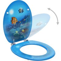 Triomphe Siège de toilette avec couvercle MDF Design de fond marin