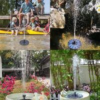 Triomphe Fontaine solaire, pompe ensoleillée avec pompe à fontaine solaire monocristalline de 1,5 W, pompe solaire extérieure de 7V pour étang de jardin, étang d'oiseau, aquarium, petit étang, fontaine de l'étang