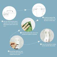 Triomphe Support de brosse à dents électrique, support de brosse à dents électrique autocollant renforcé, support de rangement mural réglable, adapté aux brosses à dents de salle de bain
