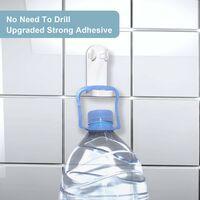 Triomphe Support de brosse à dents électrique, support de brosse à dents électrique autocollant renforcé, support de rangement mural réglable, adapté pour un ensemble de 2 brosses à dents dans la salle de bain
