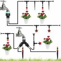 Système d'irrigation Jardin, Micro Irrigation Goutte à Goutte Irrigation Automatique Kit Irrigation Goutte à Goutte Automatique Irrigation de Jardin pour Paysage, Plantes de Patio (40M)