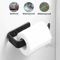 TRIP Derouleur Papier Toilette Noir WC en Aluminium, Devidoir Distributeur Papier Toilette Auto-adhésif, Sans Percage Porte Papier Toilette Hygiénique Porte Rouleau WC pour Salle de Bains