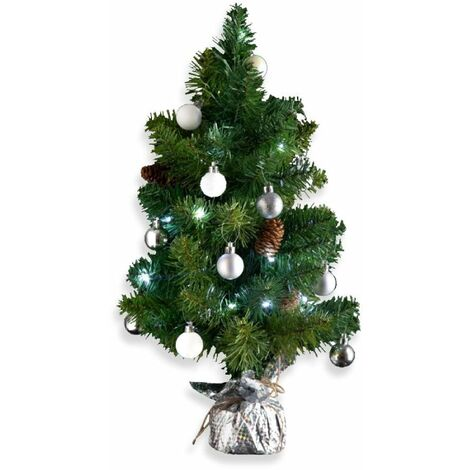 Petit sapin de Noël décoré - 50 cm