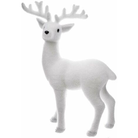 Décoration de Noël renne blanc