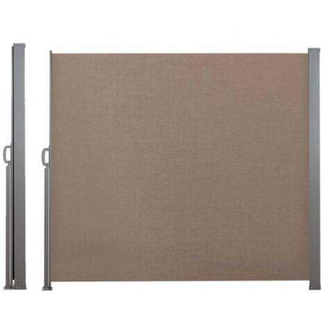 Paravent extérieur rétractable - 2,5 x 1,6 m taupe - taupe
