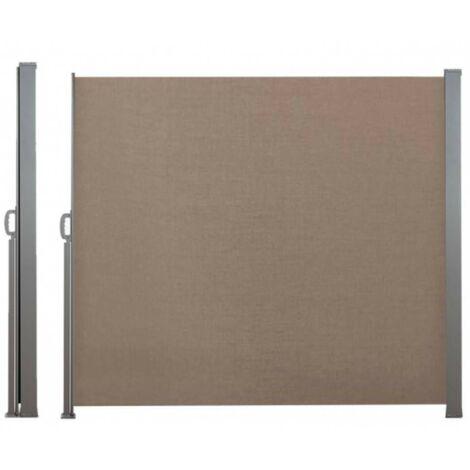 Paravent extérieur rétractable - 2,5 x 1,8 m taupe - taupe