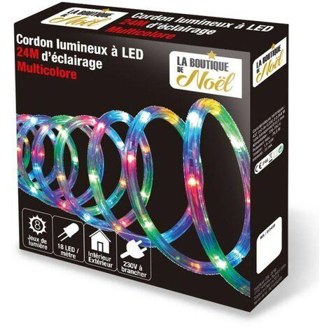Cordon lumineux électrique multicolore 24 mètres - multicolore