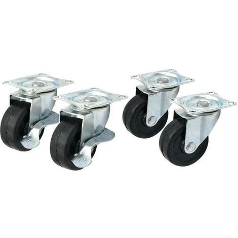 Roulettes pivotantes 50 mm - Lot de 4