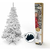 Sapin de Noël artificiel blanc Deluxe 150 cm