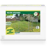 Enclos poulailler / Volière extérieur 24m2