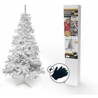 Sapin de Noël artificiel blanc Deluxe 120 cm