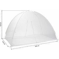 Moustiquaire dôme pour lit 2 m 200 x 125