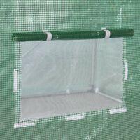 Serre de jardin tunnel 6m2 avec bâche renforcée vert 300 - vert