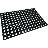Caillebotis caoutchouc noir 40 x 60 - noir