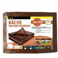 Bâche de jardin marron 140 g/m2 6 x 10