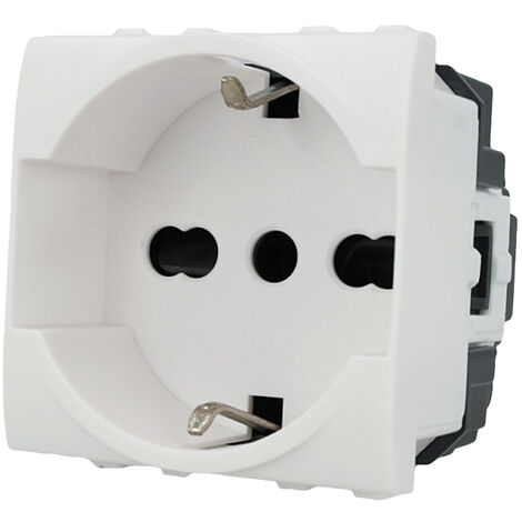 Modulo presa schuko 2P+T C2208 compatibile BTicino matix presa corrente 10//16A