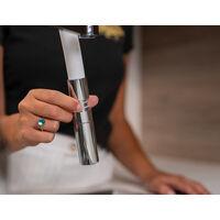 Mitigeur de cuisine 3 voies  noir mat robinet bec gris orientable et douchette 2 jets detachable BOD VIZIO