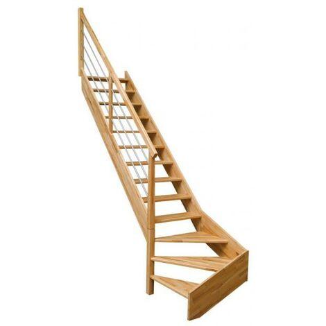 Escalier quart bas OSLAVA rampe tubulaire H275 Gauche