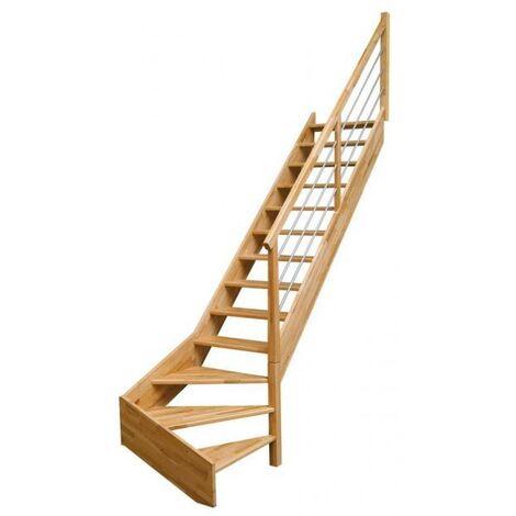 Escalier quart bas OSLAVA rampe tubulaire H275 Droit