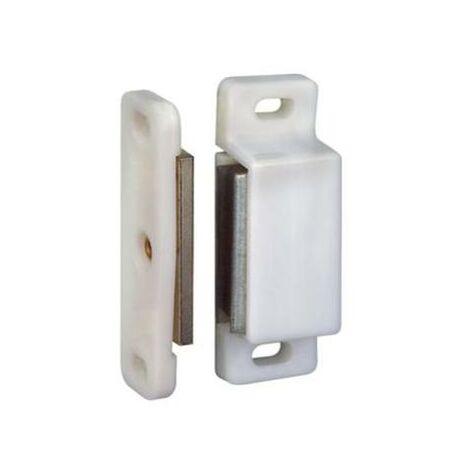 Loqueteau magnétique blanc 6 kg h. 200 x L. 200 x l. 115 mm sac de 2 pièces