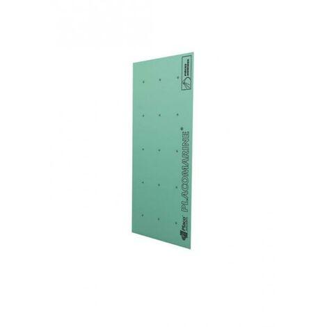 Plaque de plâtre hydrofuge NF PLACOMARINE® BA13 L. 2.5 x l. 1.2 m x ép. 12.5 mm