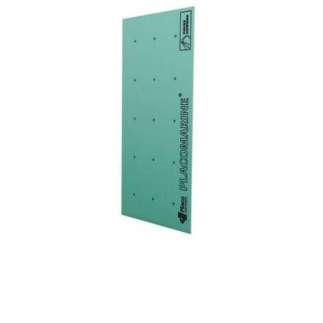 Plaque de plâtre hydrofuge NF PLACOMARINE® BA13 L. 2.8 x l. 1.2 m x ép. 12.5 mm
