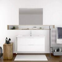 Meuble de salle de bain suspendus LOKI avec plan vasque et miroir. Avec porte-serviettes en cadeau!!! différentes coleurs et tailles en Blanc 80CM