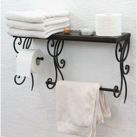 DanDiBo Porte-Serviettes Support Papier Toilette HX12992 Etagère Salle de Bains 61cm Etagère Murale