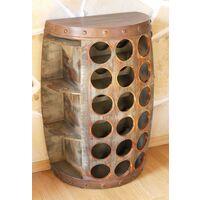 DanDiBo Scaffale-Vini Botte Vino 1468 Tavolinetto Armadio Botte in Legno 65cm BER-Vino Bar