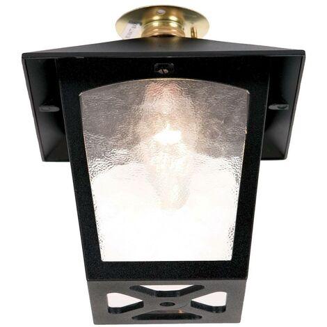 Elstead - 1 Light Outdoor Flush Ceiling Lantern Black