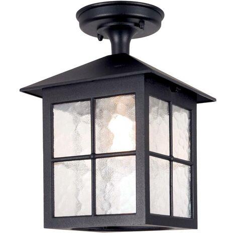Elstead Winchester - 1 Light Outdoor Ceiling Lantern Black IP43, E27