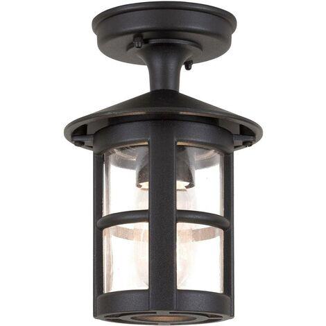 Elstead Hereford - 1 Light Outdoor Flush Lantern Light Black IP43, E27