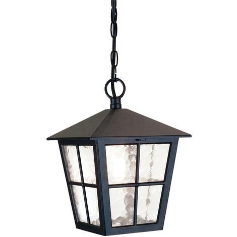 Elstead Canterbury - 1 Light Outdoor Wall Lantern Light Black IP43, E27