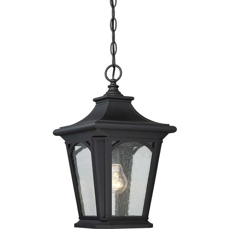 Elstead Bedford - 1 Light Small Chain Lantern - Mystic Black Finish, E27