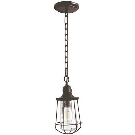 Elstead Marine - 1 Light Small Ceiling Lantern Pendant Bronze, E27
