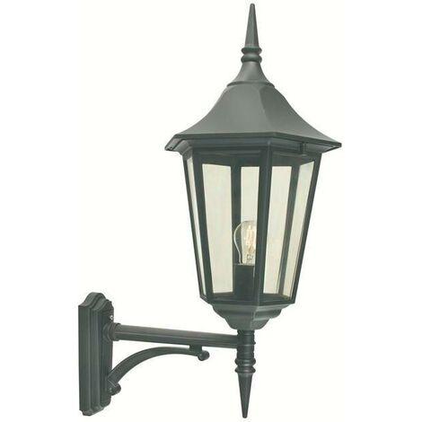 Elstead - 1 Light Outdoor Wall Lantern Light Black IP54, E27