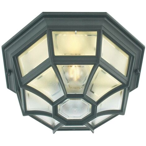 Elstead - 1 Light Outdoor Wall Lantern Light Black IP44, E27