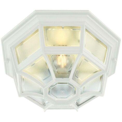 Elstead - 1 Light Outdoor Wall Lantern Light White IP44, E27