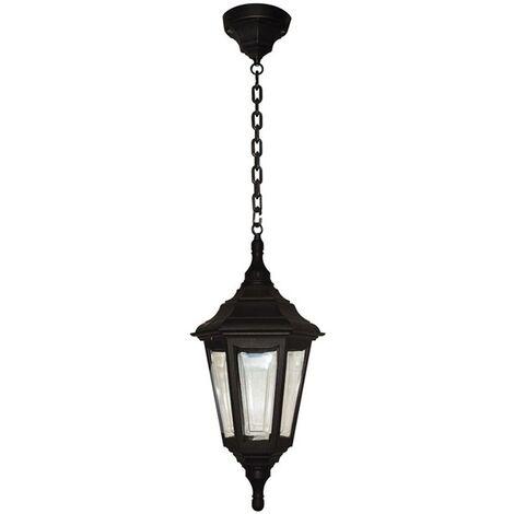 Elstead Kinsale - 1 Light Outdoor Ceiling Chain Lantern Black IP43, E27