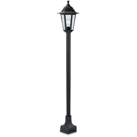 Firstlight Malmo - 1 Light Post Lantern Black Resin IP44, E27