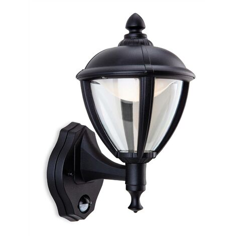 Firstlight Unite - LED Outdoor Wall Lantern, PIR Black IP44