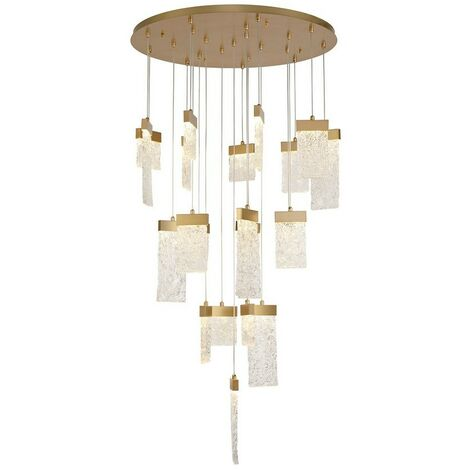 Luminosa Lighting - Ceiling Cluster Pendant Round 5M, 21 x 4.5W LED, 3000K, 3360lm, Painted Brushed Gold