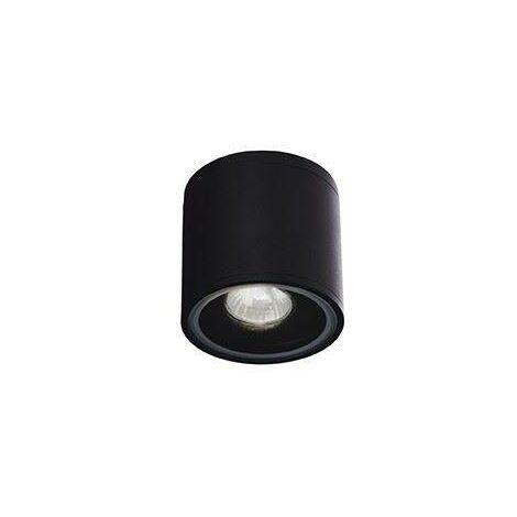 Ideal Lux Gun - 1 Light Outdoor Surface Mounted Ceiling Downlights Black IP44, GU10