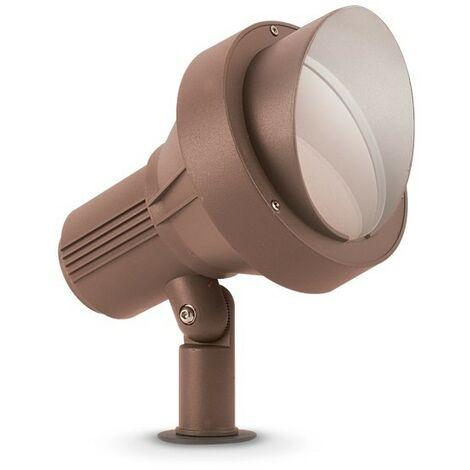 Ideal Lux TERRA - Outdoor Ground Spotlight Lamp 1 Light Coffee IP65, E27