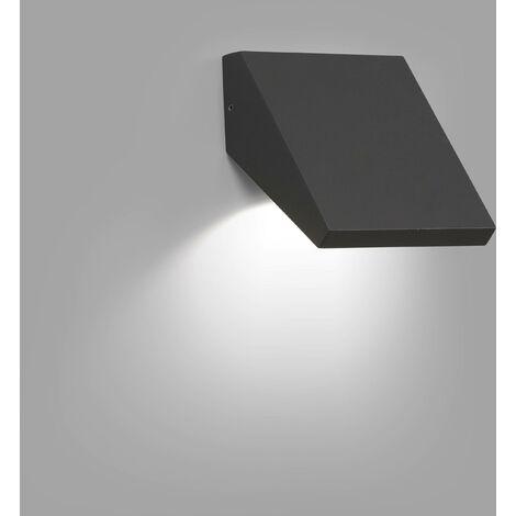 Faro Guiza - Outdoor LED Dark Grey Wall Downlight 10W 3000K IP65