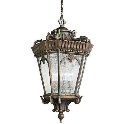 Elstead Tournai - 1 Light Medium Outdoor Ceiling Chain Lantern Londonderry, E27