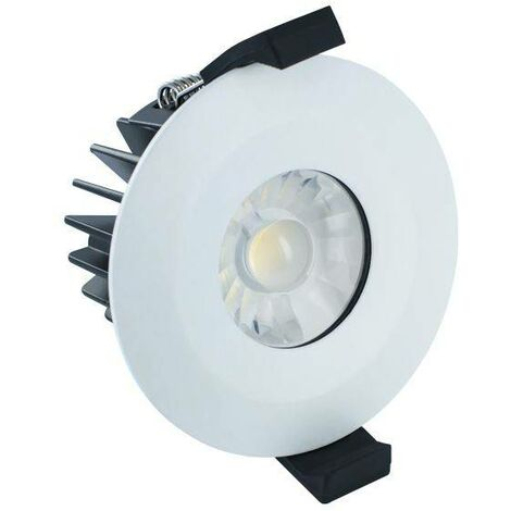 Integral - LED Low Profile IP65 Fire Rated Downlight Recessed Spotlight 6W 4000K 440lm Dimmable Matt White IP65
